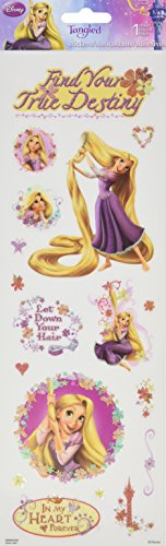 Sandylion Tangled Glitter Stickers, 4 by 12-Inch, Clear