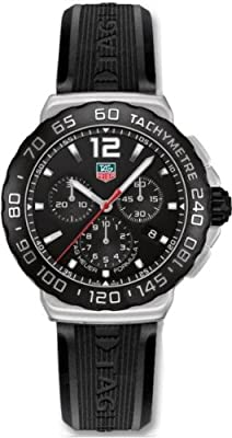 TAG Heuer Men's CAU1110.FT6024 Formula 1 Black Dial Black Rubber Strap Quartz Watch from TAG Heuer