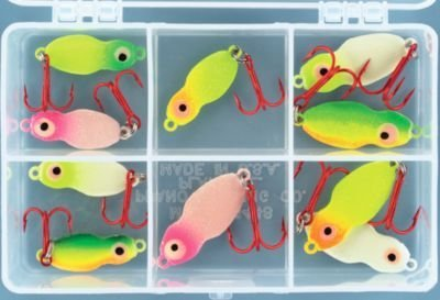 Lindy Techni-Glo Value Pack Ice Fishing Kits - Frostee Jigging - 10 Pieces (Lindy Ice Fishing Lures compare prices)