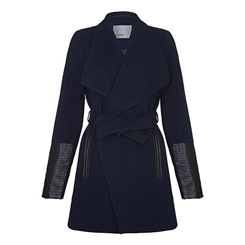 Vero Moda - Vero Moda - Cala Delle donne cappotto di lana d'inverno, Marina Militare, XL 44