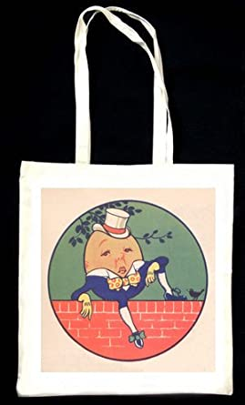 Humpty Dumpty sat on the wall... - Alice's Adventures in Wonderland vintage illustration TOTEBAG