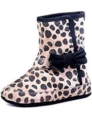 Beanz Agnes Black Tiger Print Leather Pram Shoes For Girls Size 18 EU