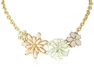 """Jessica Simpson Floral Frontal Necklace, 17"""""""