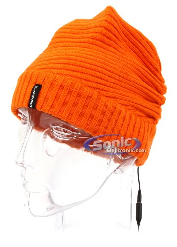 Aerial7 Sound Disk Odyssey Sports Beanie Headphones Headset With Built-In In-Line Smartphone Microphone For Iphone And Blackberry, 51150 (Orange)
