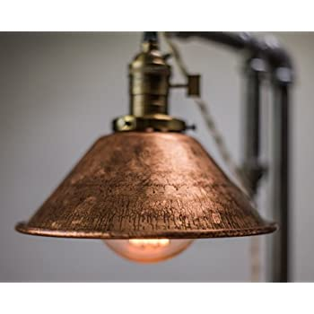Industrial Style Table Lamp - Pendant Edison Bulb - Copper Shade