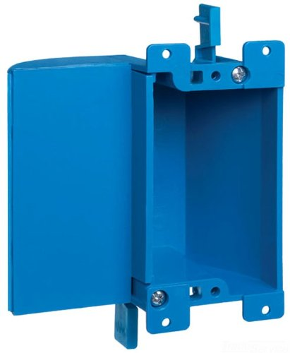 Carlon B117RSW Work Outlet Box, 1 Gang, 3.64-Inch Length by 4.07-Inch Width by 2-Inch Depth, Blue
