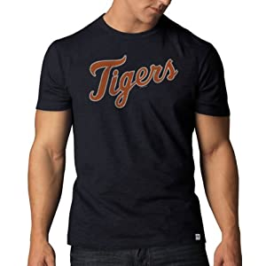 MLB Detroit Tigers Mens Scrum Basic Tee with Team Name by