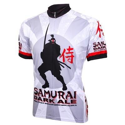 Image of World Jersey's Samurai Dark Ale Short Sleeve Cycling Jersey (B00488TDGC)