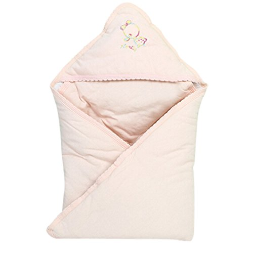 Aubig Baby Newborn Swaddle Wrap suvet Sleeping Bag Blanket Baby Horn - Pink