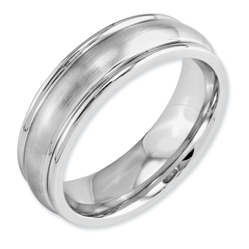 Cobalt Chromium Satin 7mm Band Size 11