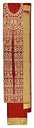 Rama Women's Cotton Silk Unstitched Dress Material (Maroon)