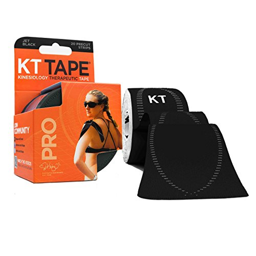 kt-tape-pro-synthetic-elastic-kinesiology-20-pre-cut-10-inch-strips-therapeutic-tape-jet-black
