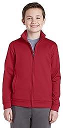 Sport-Tek Boy\'s Fleece Full-Zip Jacket_Deep Red_S