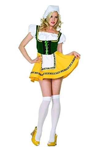 Adult Sexy Beer Garden Girl Costume Size Large (8-10)