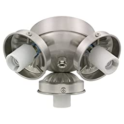 Monte Carlo H3BS 3-Light 2-1/4-Inch Fan Neck Fitter, Brushed Steel