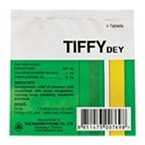 Tiffy Dey (10 Sachets of 4 Tablets Each)