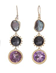Amethyst By Rahul Popli Black Silver Dangle & Drop Earrings