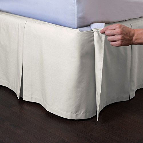 "Ashton Detachable Tailored Bed Skirt, 14"" Drop front-1036487"