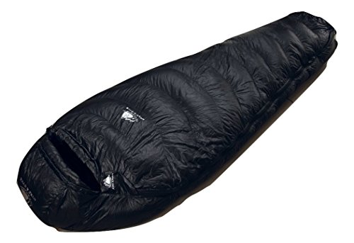 Hyke & Byke Snowmass 0 Degree F Ultralight Mummy Down Sleeping Bag for Backpacking with Compression Sack (Black, Long) (Ultralight Thermal Blanket compare prices)