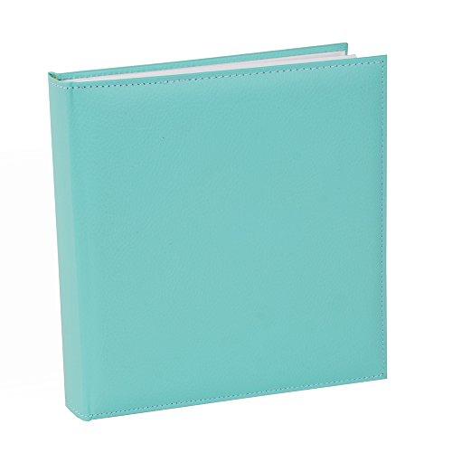 Fotoalbum Cezanne 30x31 cm 100 weiße Seiten mit Pergamin Kunstleder Aqua Mint 31812