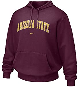 Arizona State Sundevils Maroon NCAA Embroidered Hooded Sweatshirt By Nike Team Sports by Nike