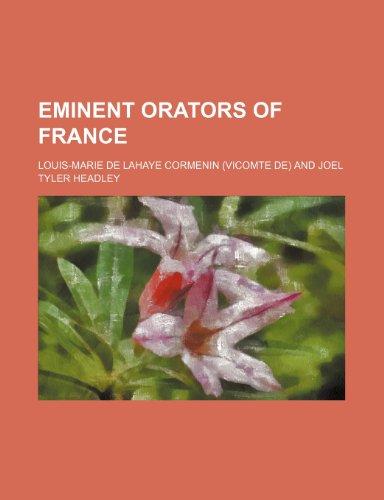 Eminent orators of France