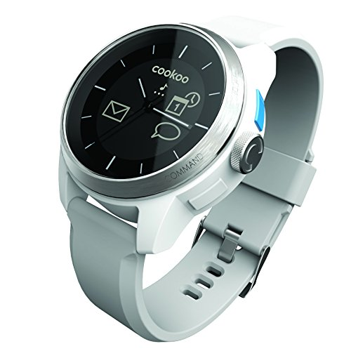 Cookoo watch CKW-SW002-01 Montre bluetooth pour smartphone Argent sur Blanc