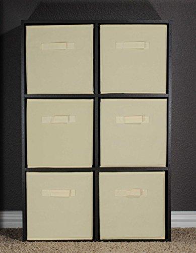 Foldable fabric storage cubes basket organization bin for Beige bathroom bin