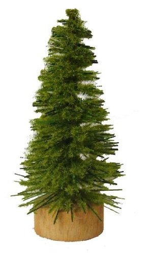 Club Pack of 24 Moss Green Artificial Village Christmas Trees 3