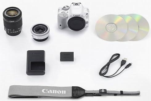 Canon デジタル一眼レフカメラ EOS Kiss X7(ホワイト) ダブルレンズキット EF-40mm F2.8 STM(ホワイト) EF-S18-55mm F3.5-5.6 IS STM付属 KISSX7WH-WLK