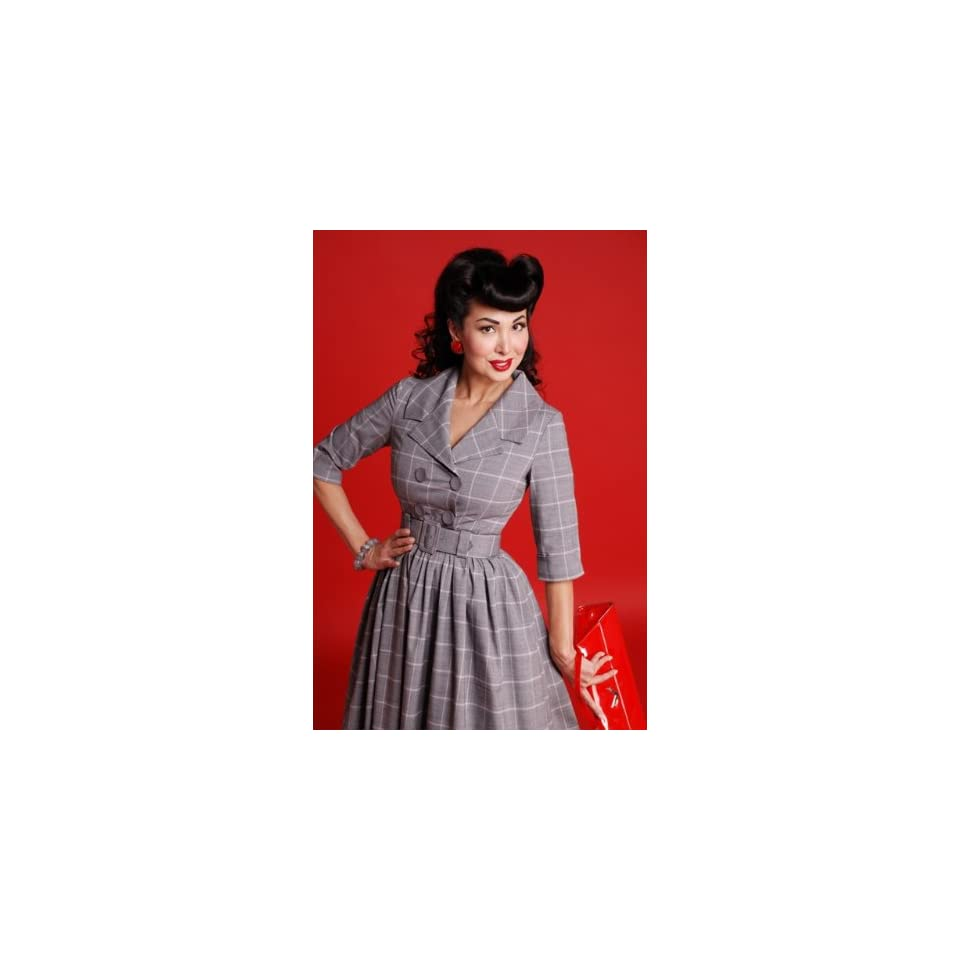 Bettie Page Clothing SUBSTITUTE Dress with Circle Skirt