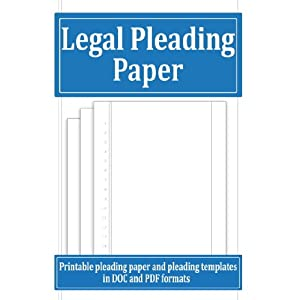 Legal Pleading Paper and Templates