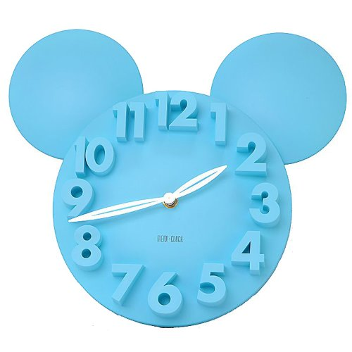 Locomo Modern Design Mickey Mouse Big Digit 3D Wall Clock Home Decor Decoration front-642836