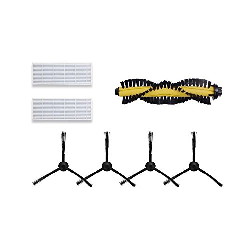 Best Buy! Vacuum Cleaner Replacement Part Kit for ILIFE A4-2 HEPA Filter, 2 pair Side Brushes, and 1...