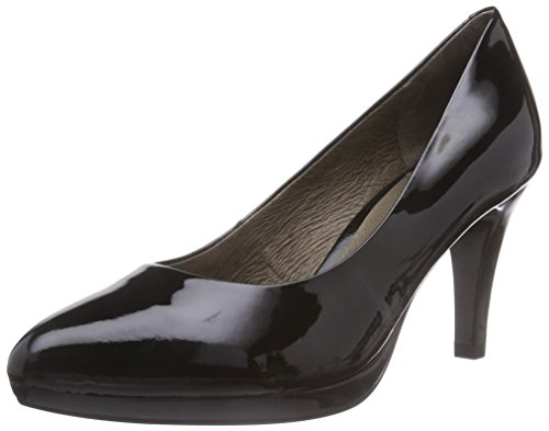 Caprice 22412, Decolleté chiuse donna, Nero (Nero (Black Patent 018)), 37
