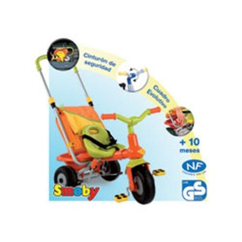 Smoby 414005 - Dreirad Baby Too mit Schiebestange hellgrün / orange