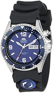 Orient Men's CEM65005D 'Blue Mako' Automatic Rubber Strap Dive Watch