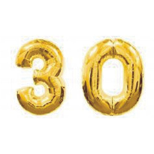 Grabo Giant 30th Gold Number Balloons by Grabo