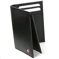 Alpine Swiss L Shape Trifold Mens Leather Wallet RFID Safe Secure Billfold Cards by alpine swiss