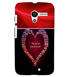 FUSON 3D Designer Back Case Cover for MOTOX D9829