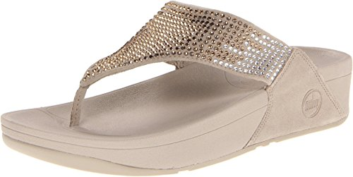 Fitflop Women'S Flare Flip Flop,Pebble,8 M Us