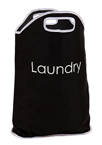 viceni-polyester-laundry-bag-with-white-writing-and-integrated-handles-black