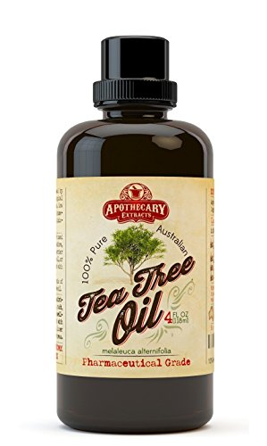 Apothecary Extracts 100% Pure Australian Tea Tree Oil, 4-Ounce Value Pack