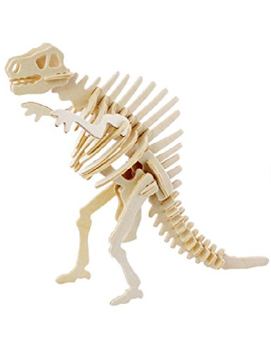 JP220 3D Assembly Wooden Animal Puzzle (Dinosaur) - 1