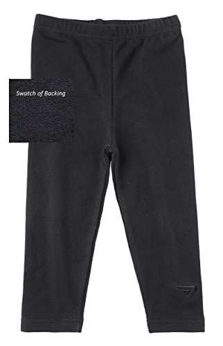 Sportoli® Baby Girls and Toddlers Cotton Blend Jersey Knit Solid Long Leggings - Black (Size 2T)