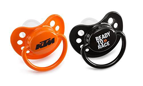NEW KTM DUMMY BABY SILENCERS PACIFIERS 2017 SX SXF SXS XC XCF EXC 3 MONTHS OR OLDER 3PW1770700