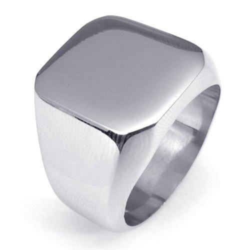 (キチシュウ)Aooazジュエリー メンズステンレスリング指輪 スムーズシンプルのデザイン シルバー 高品質のアクセサリー 日本サイズ19号(USサイズ9号)