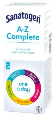 Sanatogen A-Z Complete 25 essential Vitamins and Minerals 90 Tablets