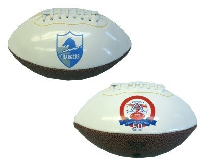 San Diego Chargers AFL 50th Anniversary Mini Size Football - Licensed NFL Football Gift