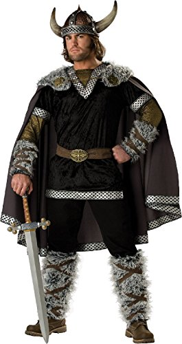 [Maconaz Men's Viking Warrior Costume-One Size] (Viking Outfits For Adults)